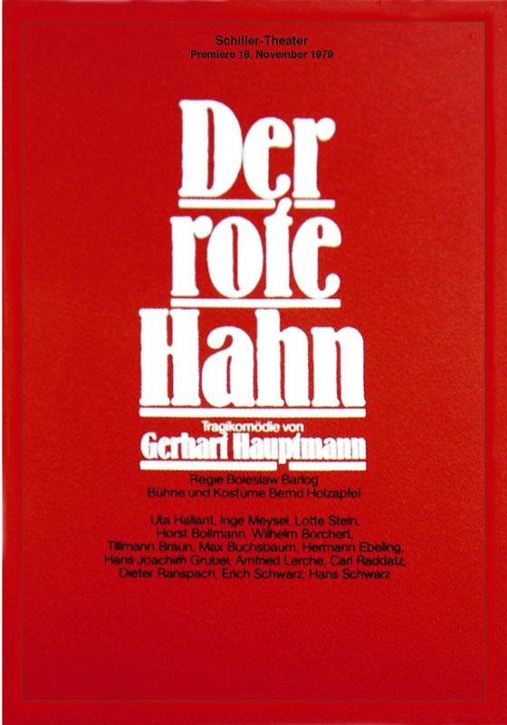 Roter Hahn Kunst volker noth plakate schiller theater berlin